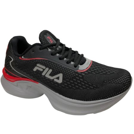 Tênis Masculino Fila Racer Fluid - 11J719X-879 - Preto-Cinza-Vermelho