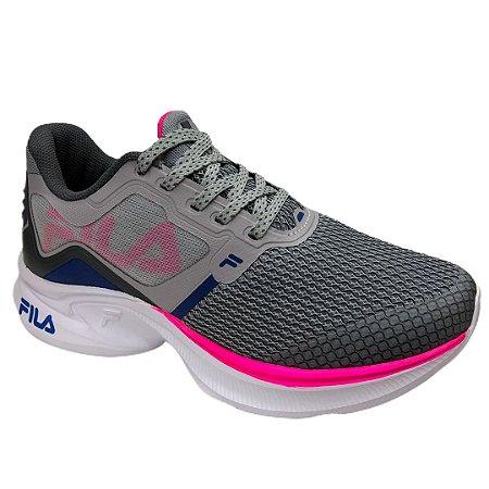 Tênis Feminino Fila Racer Move - 51J731X-4250 - Prata-Rosa Fluor-Azul