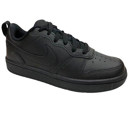 Tênis Infantil Nike Court Borough Low 2 (Gs) - BQ5448-001 - Preto