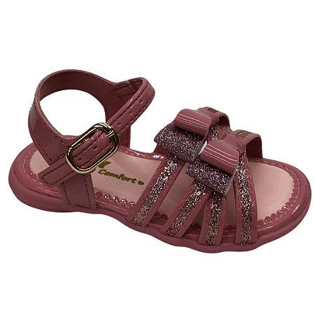 Sandália Infantil Menina Kidy Baby Mna Equilibrio - 002-0744-2176 - Rose