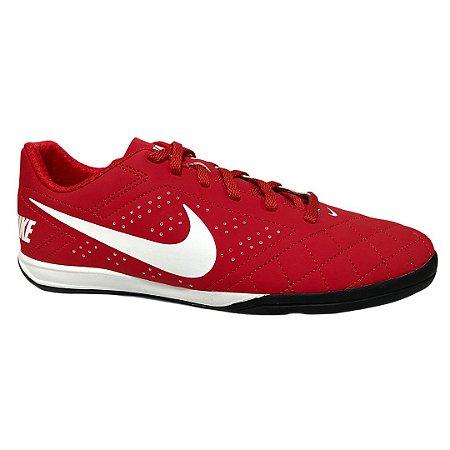 Tênis Masculino Nike Futsal Beco 2 University Red White Black - 646433-610 - Vermelho