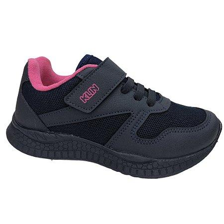 Tênis Infantil Menina Klin New Sport - 480009000-004299 - Marinho-Pink