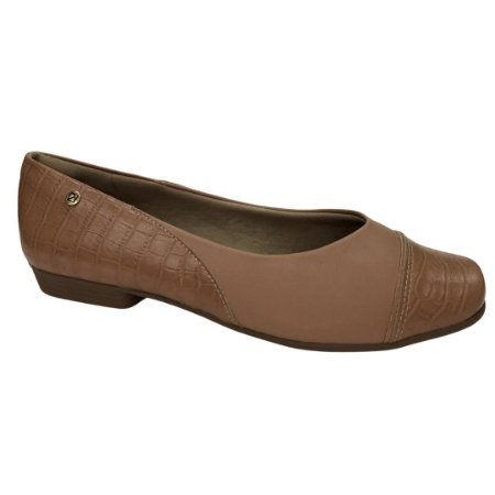 Sapatilha Feminina Piccadilly  Joanete Sola Tr Bege Np Cro Cpc - 250177-3 - Bege