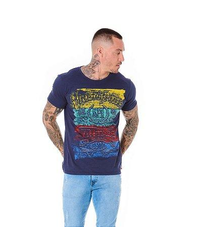 Camiseta Algodão Slim Union Trade Marinho