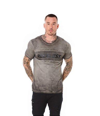 Camiseta Algodão Slim A Seco Reckless Preto