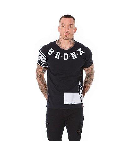 Camiseta Algodão Slim Bronx Preto