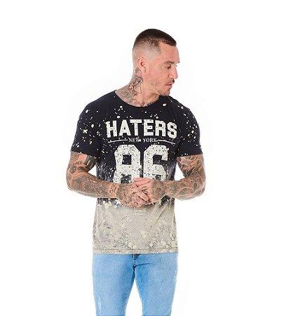 Camiseta Algodão Slim Haters 86 Preto