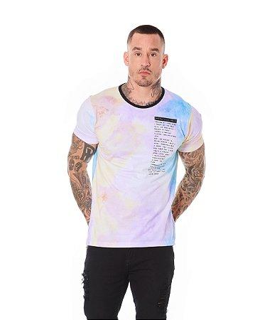 Camiseta Algodão Slim Full Tie Dye Indestructible Roxo