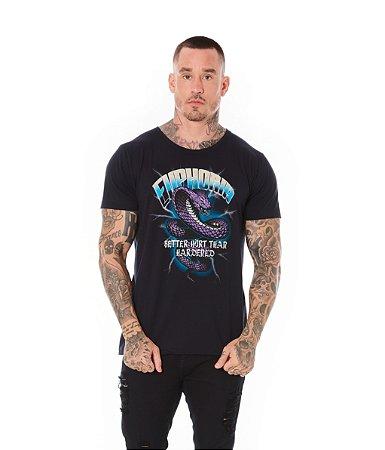 Camiseta Algodão Slim Cobra Euphoria Preto