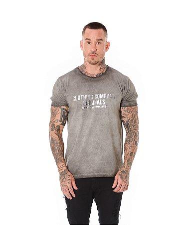 Camiseta Algodão Slim A Seco Foil Clothing Company Preto