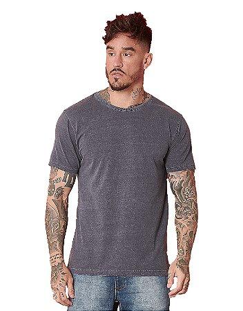 Camiseta Algodão Gola 2x1 Stonado