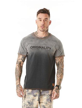 Camiseta Algodão Slim Originality Lavanderia Corte a Fio