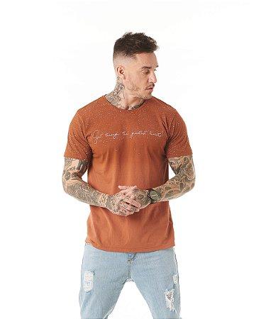 Camiseta Algodão Slim Get Through Respingos
