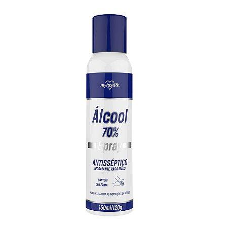 Álcool Spray Aerosol 70% Antisséptico My Health 150ml
