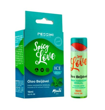 SPICY LOVE ICE MENTA 15ML - PESSINI