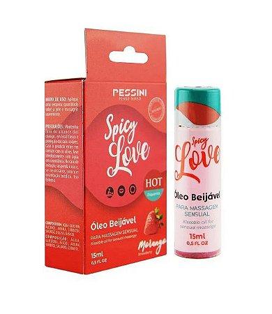 SPICY LOVE HOT MORANGO 15ML - PESSINI