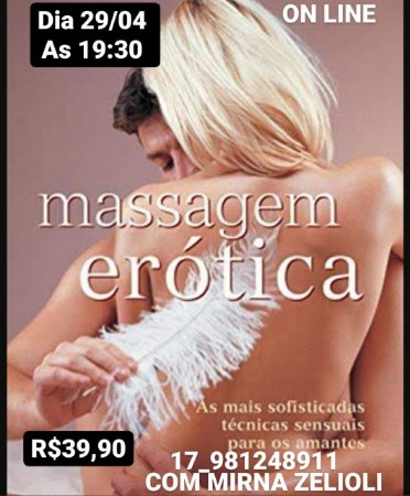 Curso online Massagem Erótica com Mirna Zelioli - Dia 29/04/2021 às 19:30h