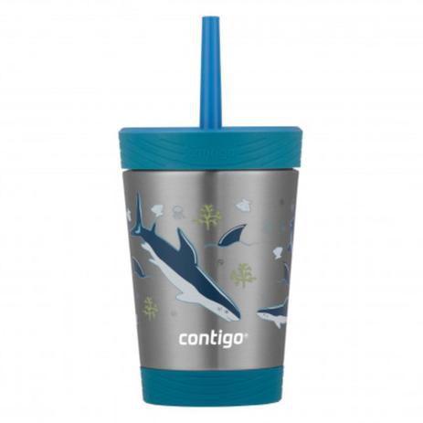Copo Térmico Infantil CONTIGO - Tubarão 341ml