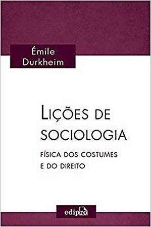Livro - Lições de Sociologia