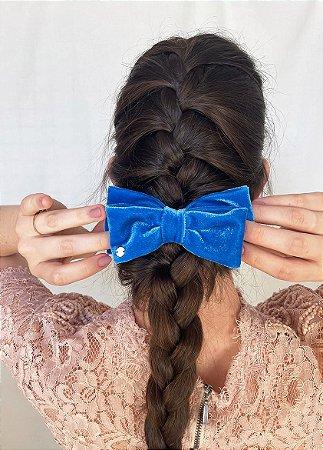 Laço Camila - Velvet Azul