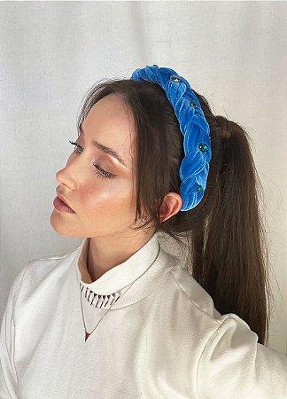 Tiara Isla - Velvet Azul Bordada