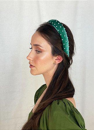 Tiara Blair - Velvet Verde Bordada