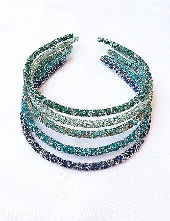 Tiara Purpurina Tons de Azul e Verde  -  Escolha suas favoritas