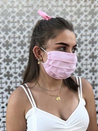 Máscara Zigzag Rosa Claro
