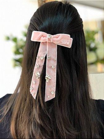 Laço Bella Diamond - Velvet Rosa Claro I