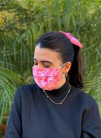 Kit Tie Dye - Máscara + Scrunchie - Pink Lemonade - Pregas
