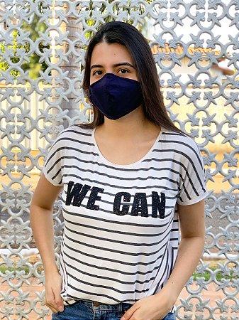 Máscara Antiviral Fem - Azul Marinho
