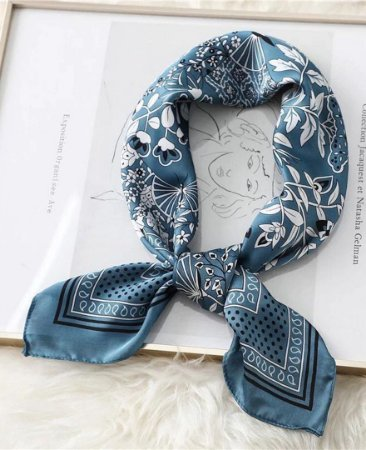 Lenço Serena - Azul Jeans