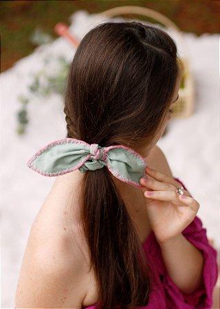 Scrunchie Clarice - Croché - Verde Claro