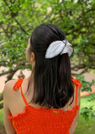Scrunchie Clarice - Croché - Off White