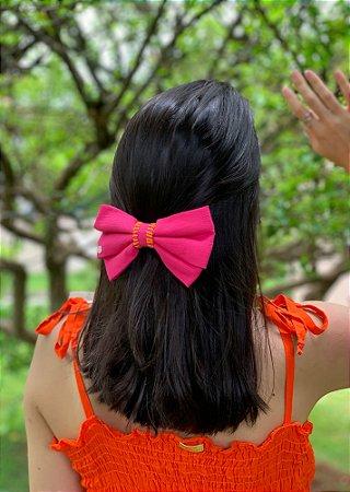 Laço Kamila Croché - Rosa Pink