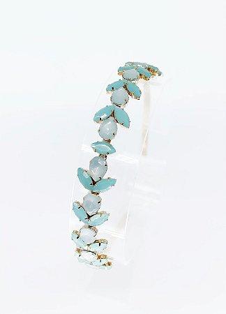 Tiara Rubi Folhas - Azul