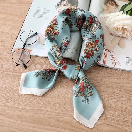 Lenço Serena - Azul Floral