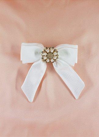 Laço Bride Grace Kelly - Broche Dourado