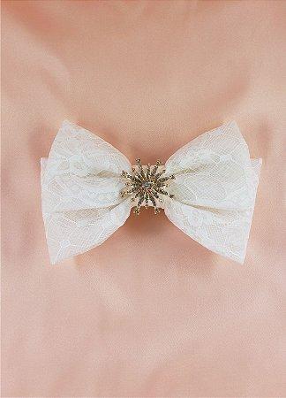 Laço Bride Rania - Broche Dourado