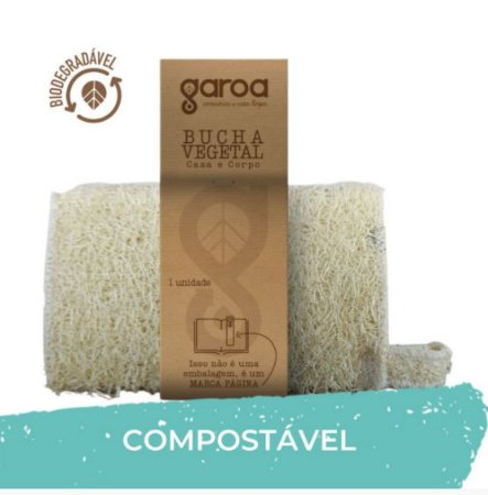 Bucha Vegetal - Biodegradável - Garoa