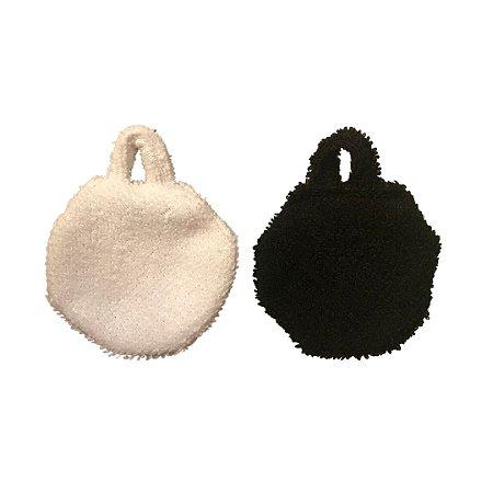Ecopads Com Alcinha - Discos Atoalhados - Branco e Preto