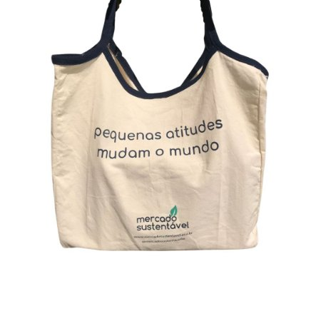 Ecobag BIG Mercado Sustentável - 100% Algodão Reciclado