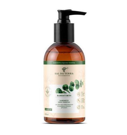 Sabonete Líquido Íntimo Barbatimão 250 ml - 100% Vegetal e Biodegradável - Sal da Terra