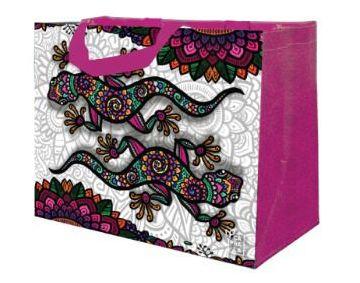 Ecobag de Ráfia MINI - Coleção Artistas do Brasil by @Danroots Rosa - Sacola Reutilizável - CáPraLá