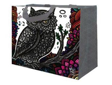 Ecobag de Ráfia MINI - Coleção Artistas do Brasil by @Danroots Cinza - Sacola Reutilizável - CáPraLá