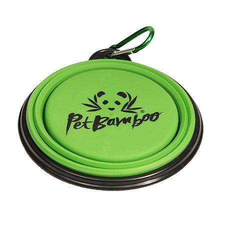 Comedouro e Bebedouro Portátil de Silicone - Tamanho Pequeno - PetBamboo