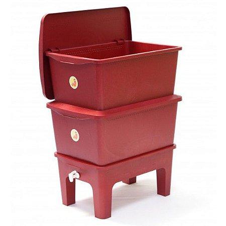 Composteira Doméstica Humi Vermelha