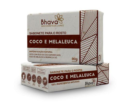 Sabonete Facial de Coco 100% Ingredientes Naturais 90 g - Linha LIXO ZERO - Bhava