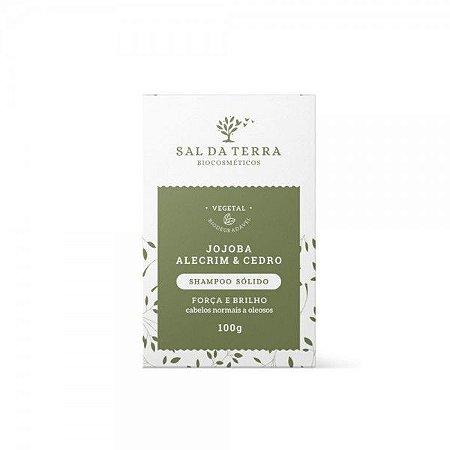Shampoo Sólido Jojoba, Alecrim e Cedro 100g - Natural e Vegano - Sal da Terra
