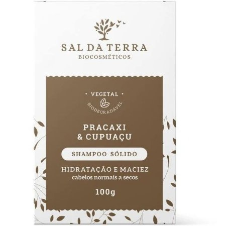 Shampoo Sólido Pracaxi & Cupuaçu 100g - Natural e Vegano - Sal da Terra